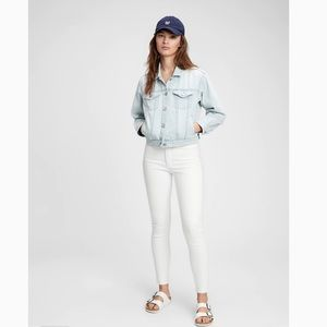 Gap 1969 True Skinny Jeans in White Size 30